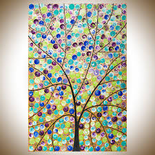 24 abstract art purple blue green brown black white original artwork colourful painting large wall art whimsical art canvas arttree flower paintings on whimsical wall art on canvas with stars in her eyes by qiqigallery 36 x 24 abstract art purple blue