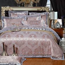whole chinese wedding style jacquard bedding 100 cotton bedding sets silk duvet cover sets queen king size smoke gray double duvet covers comforters