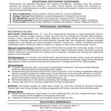 resume objectives for managers resume sample restaurant supervisor resume samples resume format