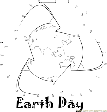 Earth Day dot to dot printable worksheet - Connect The Dots