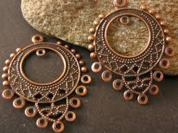 antique copper 25x32mm chandelier earring settings or pendant link images of