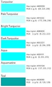 Blue In Green Chart Show Me The Color Teal Color Teal Chart Green Colour Es En