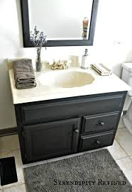 Painting In Bathroom Serendipity Refined Blog How To Update Oak And Brass Bathroom