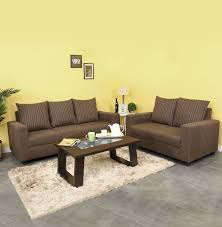 brown sofa sets. Furnicity Fabric 3 + 2 Brown Sofa Set Sets M