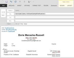 How To Email A Resume Beauteous Best Solution On How To Send An Actor Headshot Resume Via Email
