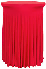 wavy spandex cocktail table cover 30 32 round red