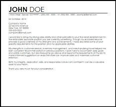 Resume Cover Letter Samples For Retail Sales 1 Sales