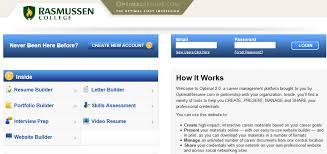 Rasmussen Optimal Resume Where Can I Make An Online Or Electronic Portfolio What Is
