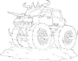 Printable Colouring Pages Of Trucks Monster Truck Coloring To Print