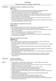 Product Marketing Manager Resume Samples Velvet Jobs