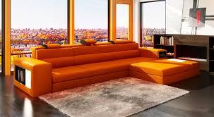 orange leather sectional polaris mini