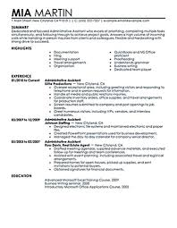 Executive Administrative Assistant Resume Sampleple Writing