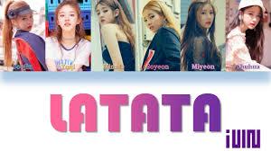 G-idle Youtube Color han - ita Latata Coded rom Lyrics