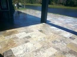 travertine patio table silver outdoor round dining sydney e23 patio