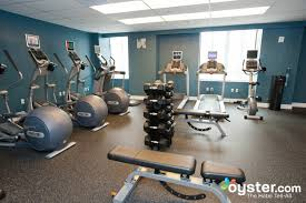 solid fitness center on the fourth floor open 24 hours a day featuring two treadmills four elliptical machines and two rebent bikes all with personal