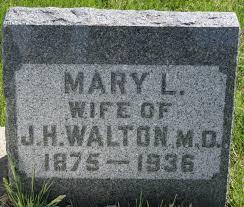 Mary Luella Bram Walton (1875-1936) - Find A Grave Memorial
