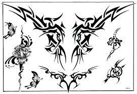 Motiv Tetování Pruhy Na Bedra 337