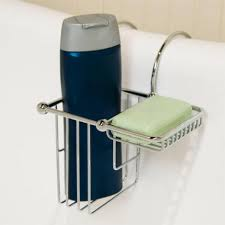 over the rim shampoo bottle and soap basket