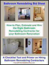 bathroom remodeling bid sheet bathroom remodeling hire bathroom bathroom remodeling estimate sheet