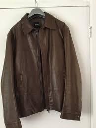 men s hugo boss leather jacket