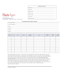 Consignment Form Template Retail Consignment Agreement Form Files In Directory 5
