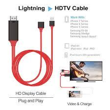 hdtv lightning hdmi to tv lightning digital av adapter for ios 11 iphone 5 5s