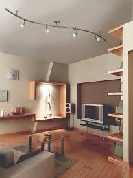 living lighting home decor. Charming Juno Track Lighting With Wooden Flooring And Beige Sofa Also Bookshelving For Modern Living Home Decor W