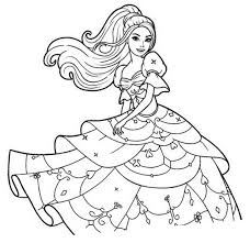 Coloriage Barbie Et Sa Belle Robe Barbie Pinterest Coloriage