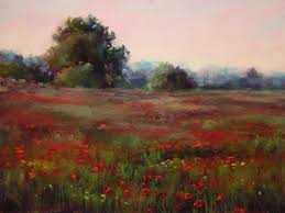 poppy field 18x24 painting sold