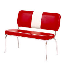 Sitzbank Paul In Kunstleder Rot Weiß