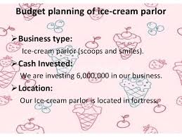Parlour business plan