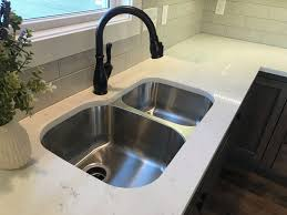 Bianco Venatino Quartz With 6040 Stainless Steel Sink Granite