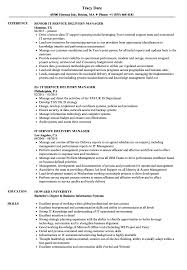 Service Delivery Manager Resume IT Service Delivery Manager Resume Samples Velvet Jobs 1