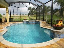 Backyard Swimming Pool Adorable Indoor Swimming Pool Design With Cool Glass Wall And