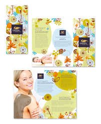 Brochure Template Tri Fold Day Spa Beauty Salon Tri Fold Brochure Template Getty Layouts