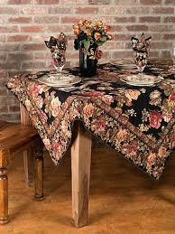 90 inch round tablecloth clearance rose attic linens kitchen black 1