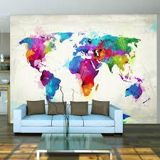 Fotobehang Wereldkaart Van Geluk Kleur Karo Art Vof