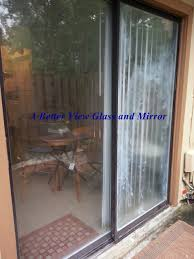 foggy patio glass sliding doors a better view glasirror has since replaced with new