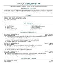 New Graduate Nursing Resume Samples – Andaleco