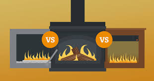 which is more energy efficient gas vs wood burning fireplaces vs electric fireplaces