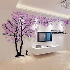 3D Wall Decals Trees DIY Wall Stickers Acrylic Tree Wall Murals,Tv setting  wall,