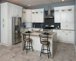 Sunnywood Kitchen Cabinets All Wood Kitchen Cabinets 10x10 Frosted White Shaker Rta Free