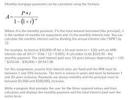 Solved Monthly Mortgage Payments Can Be Calculated Using