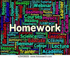homework word homework word indicates assignments text and education stock