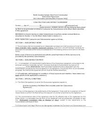 Subcontractor Contract Template Interesting Subcontracting Contract Template Tatilvillamco