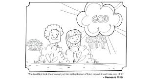 Adam And Eve Coloring Pages And Eve Coloring Page Pages For Kids To