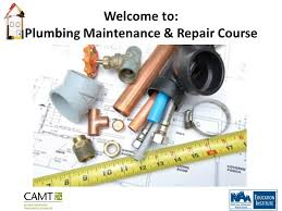 Vending Machine Repair Course Impressive Welcome To Plumbing Maintenance Repair Course Ppt Download