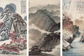 chinese landscape painting painting chinese ink artist brush museum painting paintings mountain natural