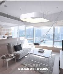 Modern Simple Square LED Pendant <b>Light</b> For Dining Room ...