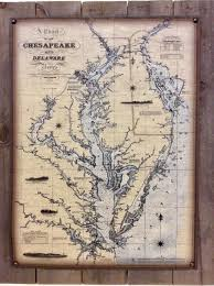 A Chart Of The Chesapeake And Delaware Bays Special To
